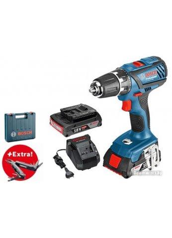 Дрель-шуруповерт Bosch GSR 18-2-LI Plus Professional 0615990K9S (с 2-мя АКБ, кейс)