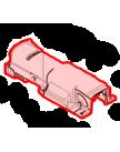 Крышка корпуса редуктора на JR3060T, MAKITA 154551-6