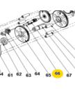 Передаточный вал (вал-шестерня) К-27, Энкор 152360