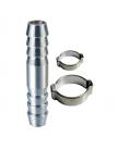 Переходник FUBAG елочка 6 мм -> елочка 6 мм с обжимными кольцами 180390 B