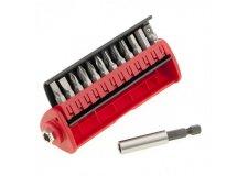 Набор бит, сталь S2, 12 шт, встроенный магнитный адаптер, в пласт. боксе Matrix 11314