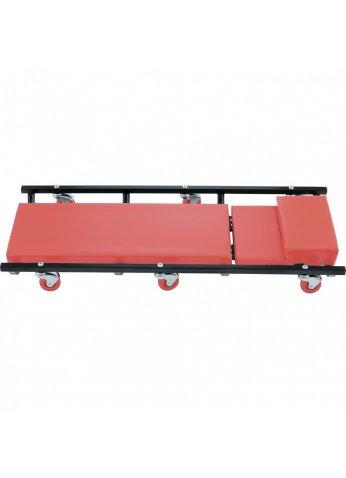 Лежак ремонтный на 6-ти колесах, 1030 х 440 х 120 мм, поднимающийся подголовник Matrix 567455