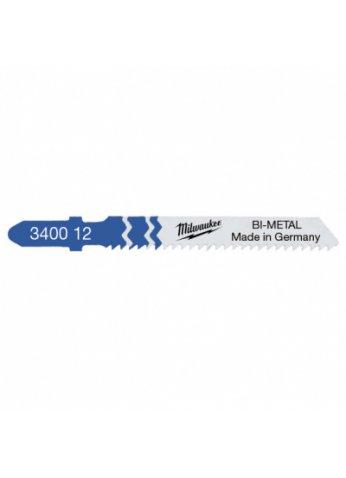 Пилка для лобзика (по металлу) MILWAUKEE T118BF 55х2 мм (5 шт.) 4932340012