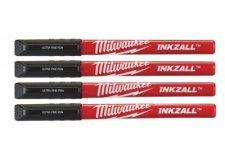 Промышленные ручки с тонким кончиком, 4 штуки, черные Milwaukee 48223164