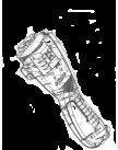 Корпус двигателя UM3830/UM4030 (680307383) MAKITA 680307383