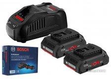 Аккумулятор 2шт с зарядным устройством (оригинал) Bosch 2xProCORE 1600A016GF (2АКБ 18В 4Ач ЗУ 18В)