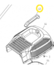 травосборник крышка верхн. LM3815P WORTEX M1G-ZP4-380-43