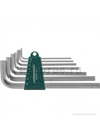 Комплект угловых шестиграников LONG с шаром 2,5-10мм, 7 предметов S2 материал JONNESWAY H05SM107S