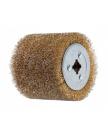 Щетка стальная с латунным покрытием 100х120 мм 0,3 мм WORTEX (диаметр 120 мм, ширина 100 мм, посадочный диаметр 19 мм, проволока 0,3 мм)