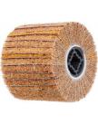 Щетка комбинированная лепестковая/нейлоновая 100х120 мм P120 WORTEX (диаметр 120 мм, ширина 100 мм, посадочный диаметр 19 мм, зерн. 120)