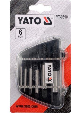 Набор экстракт. для обломанных болтов YATO YT-0590
