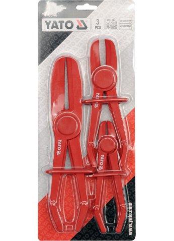 Набор зажимов для шлангов с жидкостью YATO YT-0840