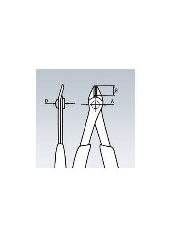 Кусачки для электроники прецизионные ELECTRONIC-SUPER-KNIPS Knipex 78 23 125