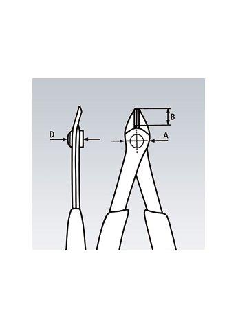 Кусачки для электроники прецизионные ELECTRONIC-SUPER-KNIPS Knipex 78 13 125
