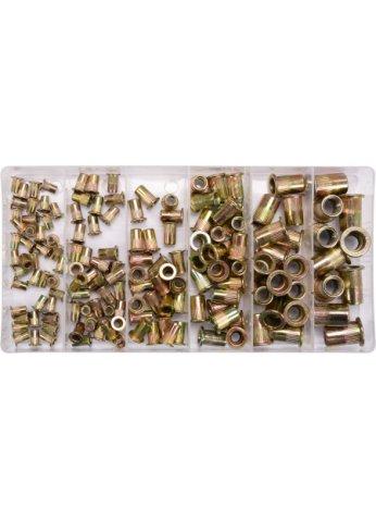 Заклепки резьбовые стальные M3-М10 (набор 150шт.) YT-36481 Yato