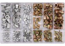 Заклепки резьбовые алюм.-сталь M3-М10 (набор 300шт.) YT-36480 Yato
