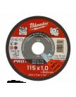 Круг отрезной по металлу D 115х1 мм SCS 41/115 MILWAUKEE 4932451484