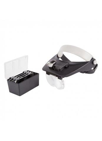 Бинокуляр монтажный 1.2х, 1.8х, 2.5х, 3.5х с 2хLED подсветкой (REXANT) 12-0402