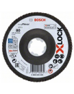 Лепестковый шлифкруг X-LOCK 125 мм (G 80 / X571) Best for Metal, BOSCH 2608619203