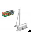 Доводчик дверной гидравлический (40-80 кг) серебро ВОЛАТ 35022-80
