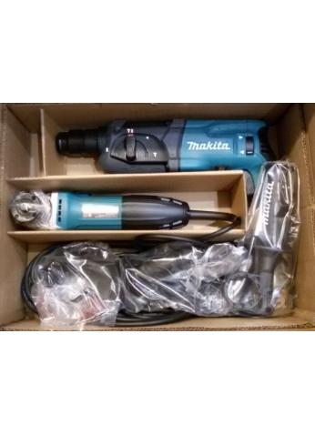 Набор инструмента Makita DK0120 (перфоратор HR2470 и угловая шлифмашина GA5030)