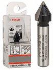 Фреза пазовая Bosch Professional V-обр, 2 лезвия, хв-8мм, ф11мм, длина-14мм, угол 60гр 2608628406