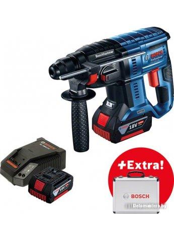 Перфоратор Bosch GBH 180-LI Professional 0615990L2R (с 2-мя АКБ, кейс)