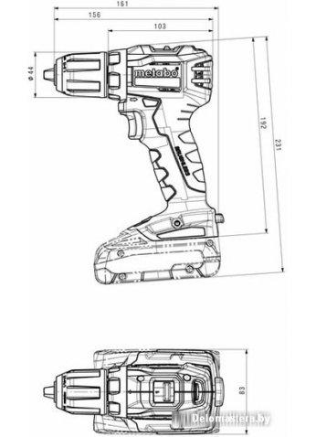 Дрель-шуруповерт Metabo BS 18 L BL 602326800 (с 2-мя АКБ 4 Ah, кейс)