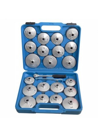 Набор чашек для снятия масленных фильтров 23пр. (крышки) в кейсе BaumAuto