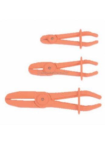 Набор плоскогубых щипцов с фиксатором для пережима шлангов 3пр. (D=8,15,24мм) FORCE (force-903G12)