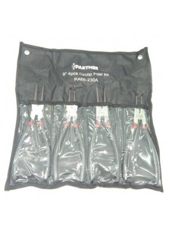 Набор щипцов для снятия стопорных колец 4пр. 230мм PARTNER (prt-PA-68-230A)