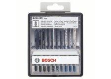 Набор 10шт,пилки д\лобзика Robust Line Top Expert,T-серия, д\дер,керам,сталь,пластик,акрил,ламинат Bosch (2607010574)