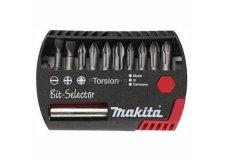 Набор бит Torsion Propfi 10шт. (PH1, 2хPH2, PH3, PZ1, 2xPZ2, PZ3, плоские 5.5,6.5мм+магн.держатель), MAKITA (P-53724)