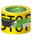 """Лента предупреждающая """"STOP"""" ZOOM, черно-желтая 75ммх100м (ZM-02-5-5-001)"""